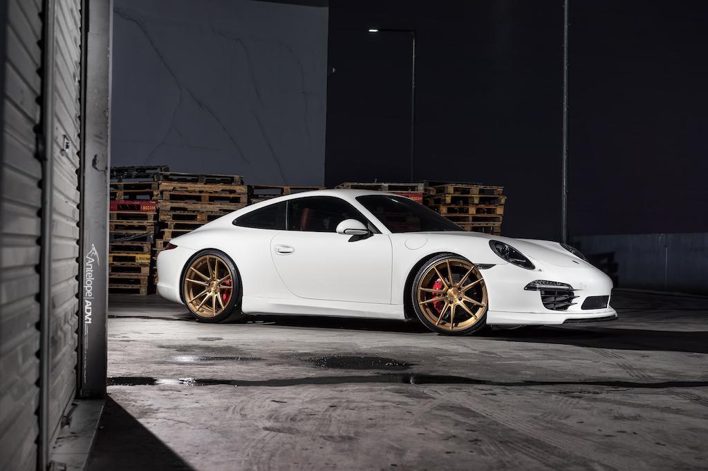 White Porsche 911 Carrera 4s Adv5 2 Sl Series Wheels