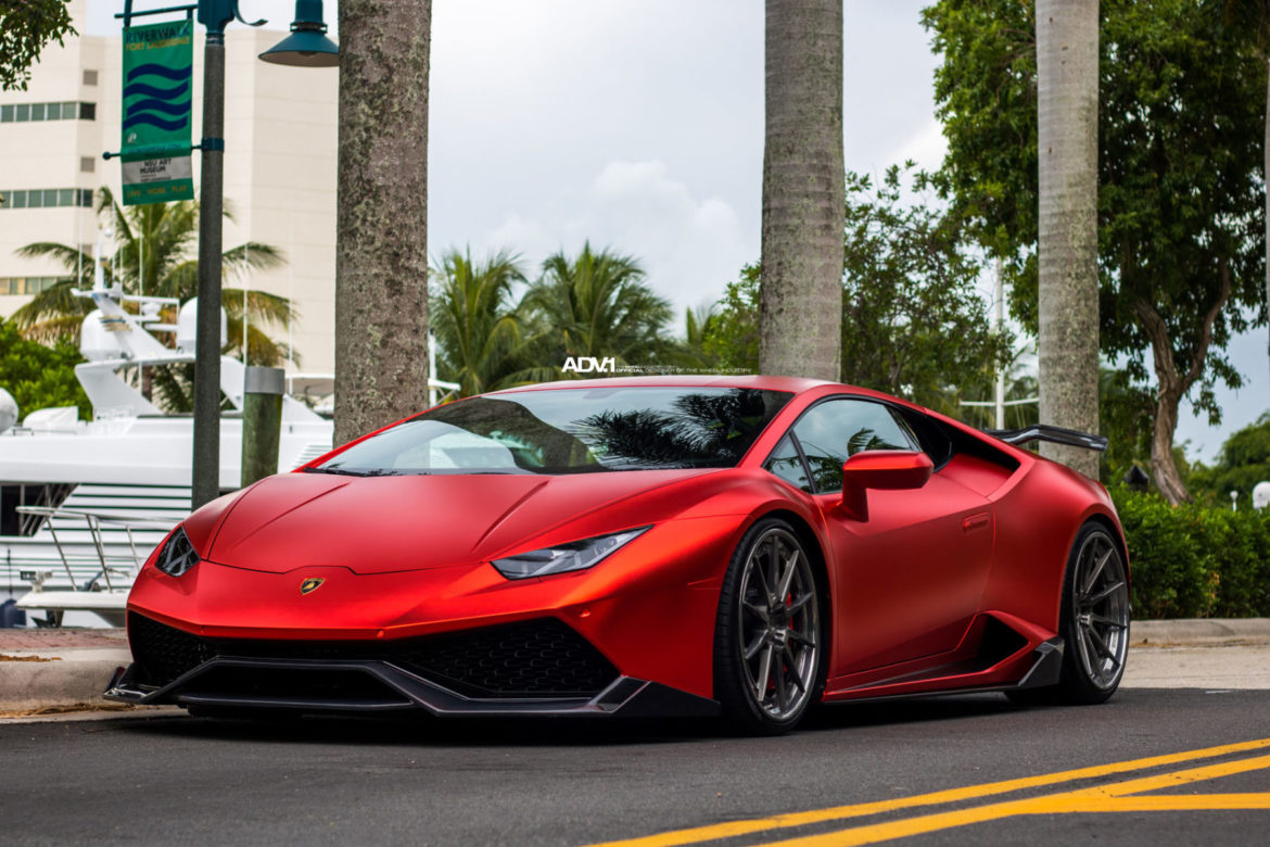Metallic Matte Red Lamborghini Huracan Lp610 Adv10 Track Spec Cs