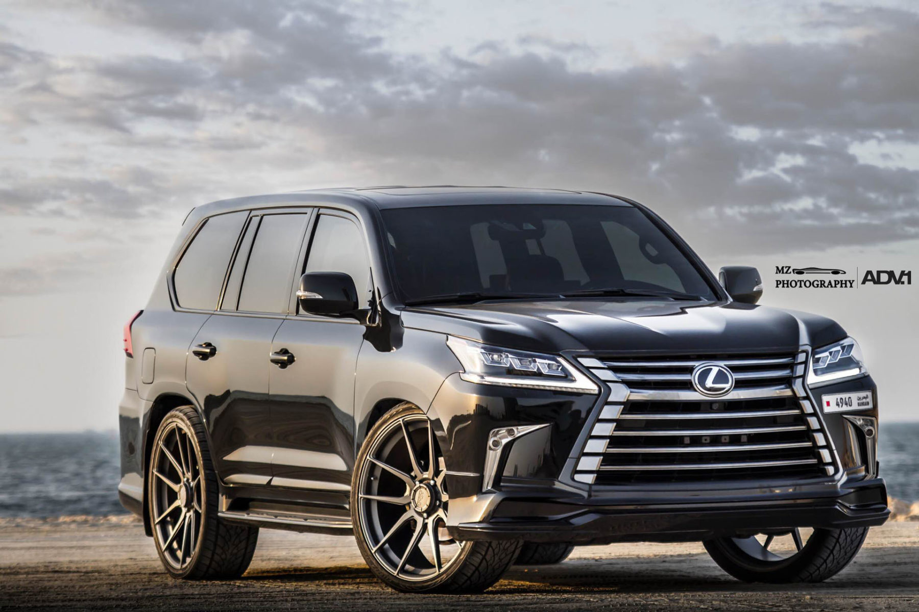 lexus lx570 adv5 2 m v1 cs matte gunmetal. Black Bedroom Furniture Sets. Home Design Ideas