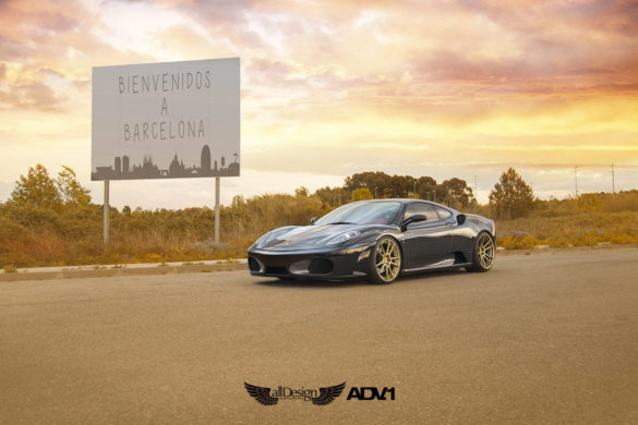 Black Ferrari F430 - ADV5.2 M.V2 SL Wheels