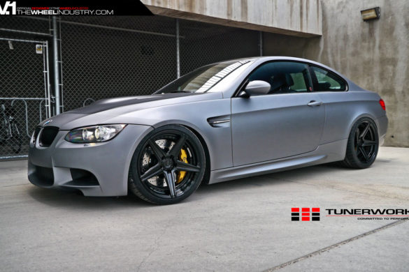 Matte Silver BMW E92 M3 - ADV5 M.V2 SL Gloss Black Wheels
