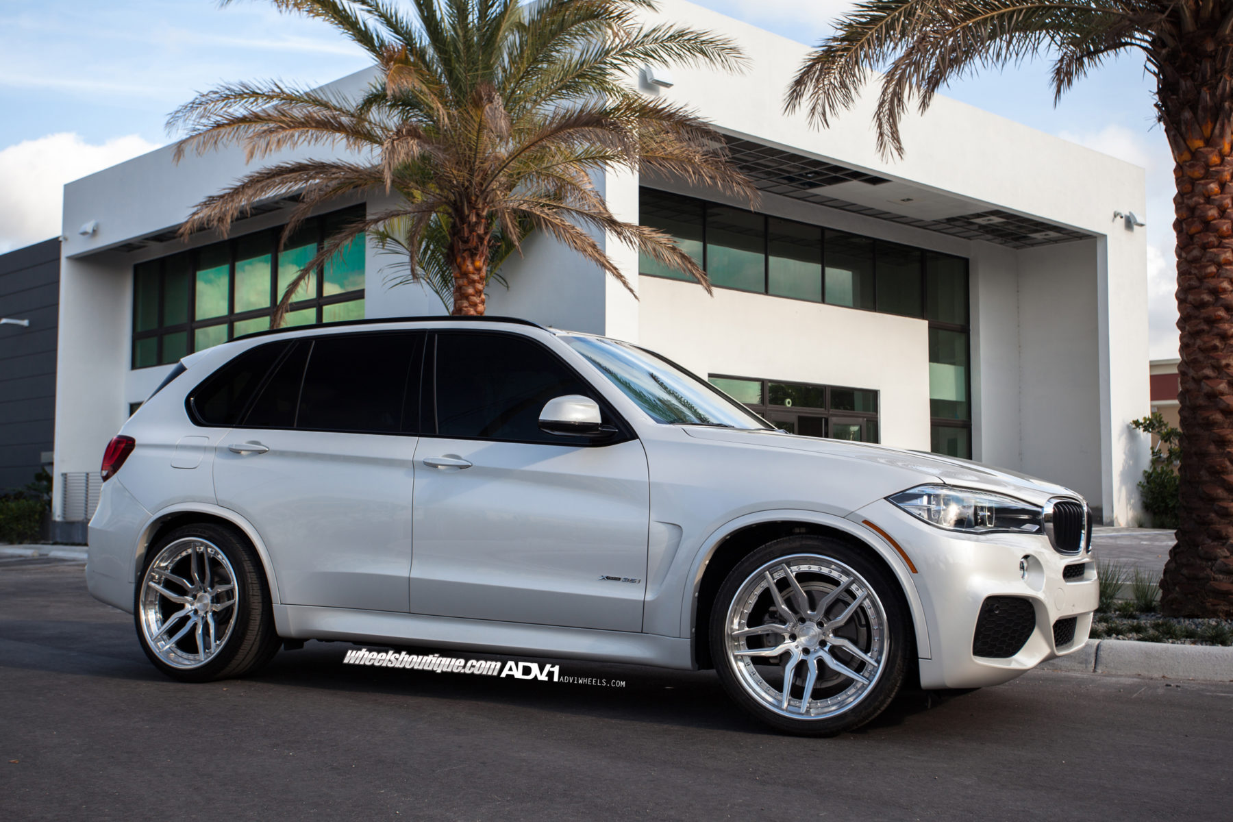 Alpine White Bmw X5 Adv005 Track Spec Cs Wheels Adv 1