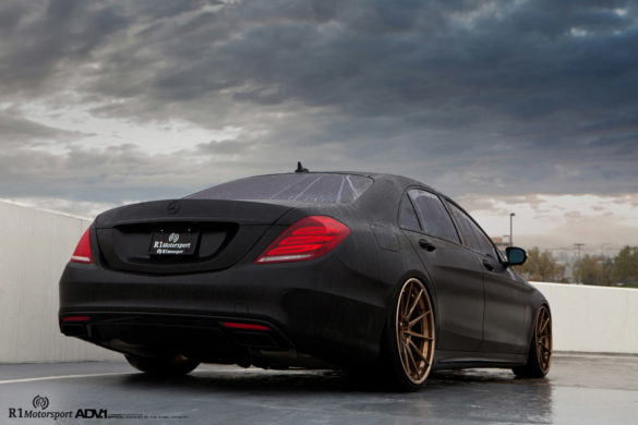 Matte Black Mercedes-Benz S550 - ADV10 Track Spec CS Wheels