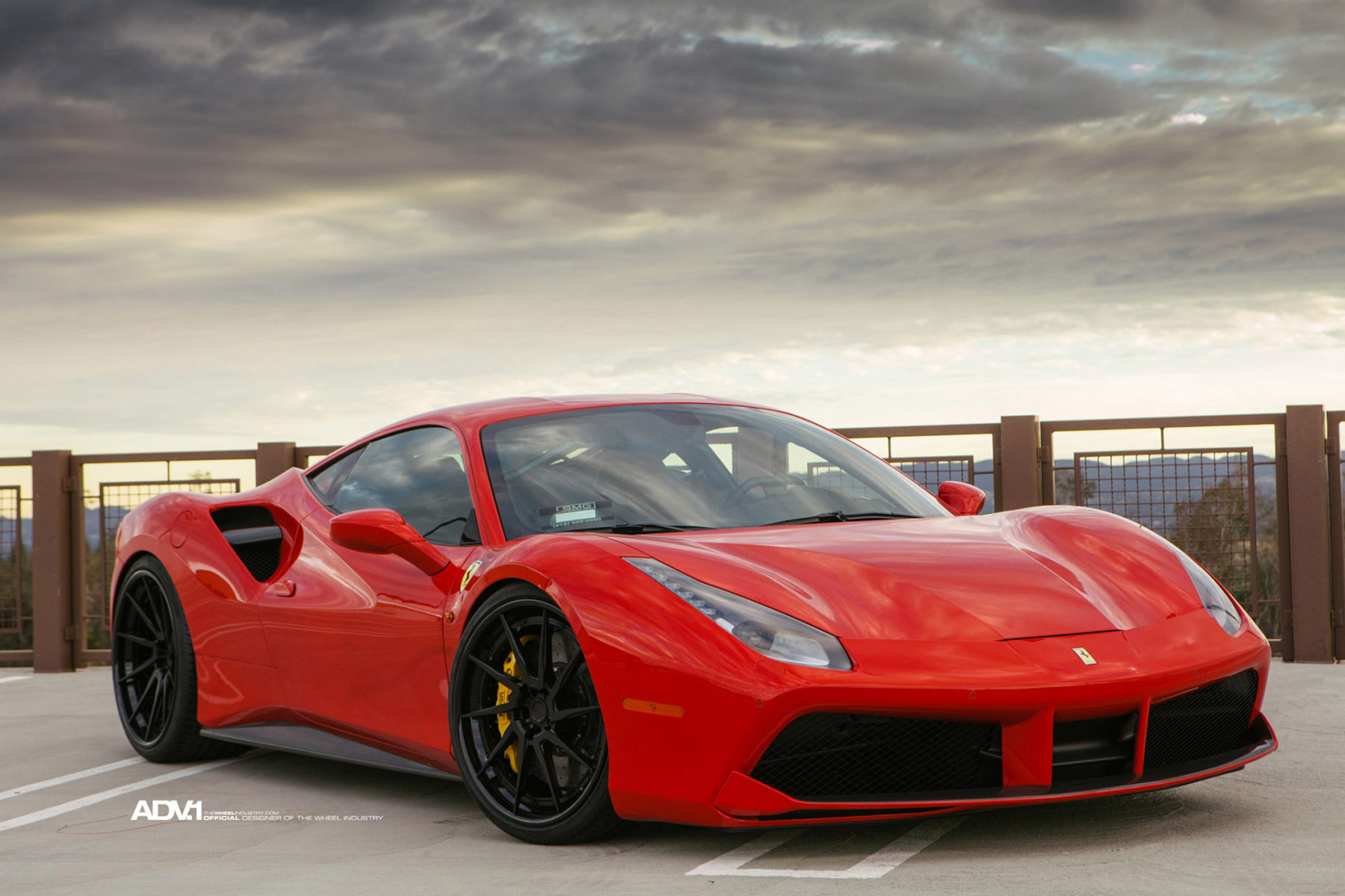Red Ferrari 488 Gtb Adv10r Track Spec Cs Directional