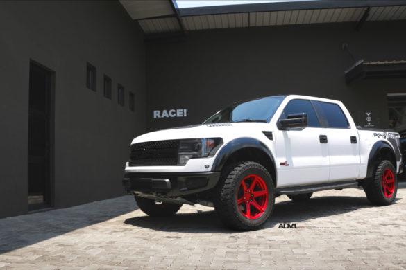 White Ford F150 Raptor - ADV6 M.V2 SL Wheels