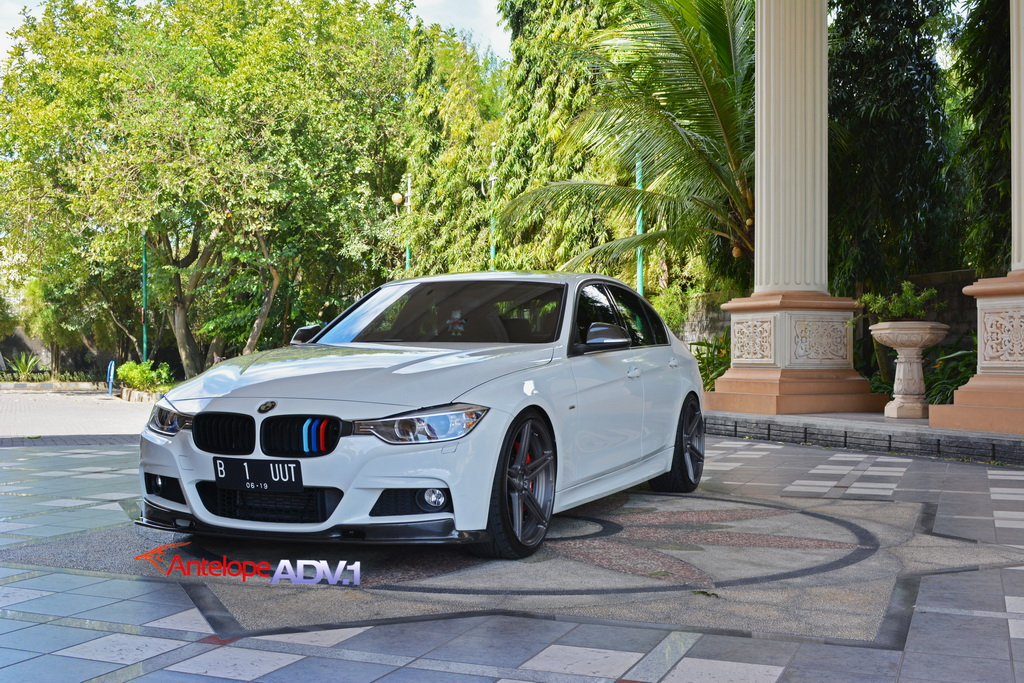 Alpine White Bmw F30 335i Adv05 M V2 Sl Wheels Titanium