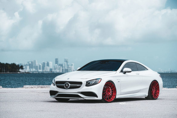 <b>White Mercedes-Benz S63 AMG</b> – ADV15 M.V2 CS Wheels