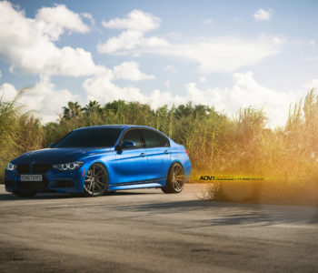 Estoril Blue BMW F30 335i – ADV5.2M.V2 SL Wheels