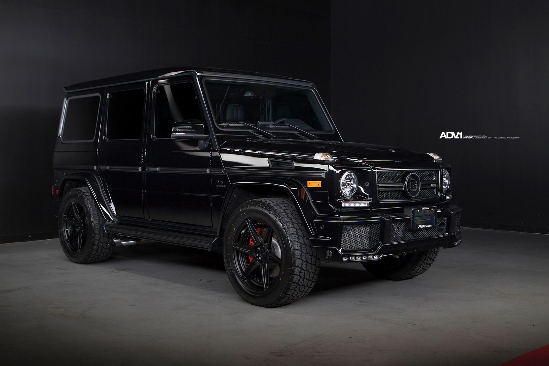Black brabus mercedes benz g63 amg adv6 m v2 cs wheels for Mercedes benz g class brabus