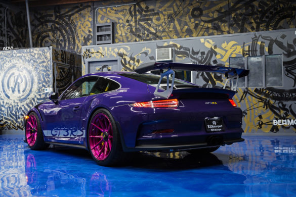 Ultraviolet Purple Porsche 911 GT3 RS - ADV5.2 M.V2 Advanced Series Wheels Wallpaper