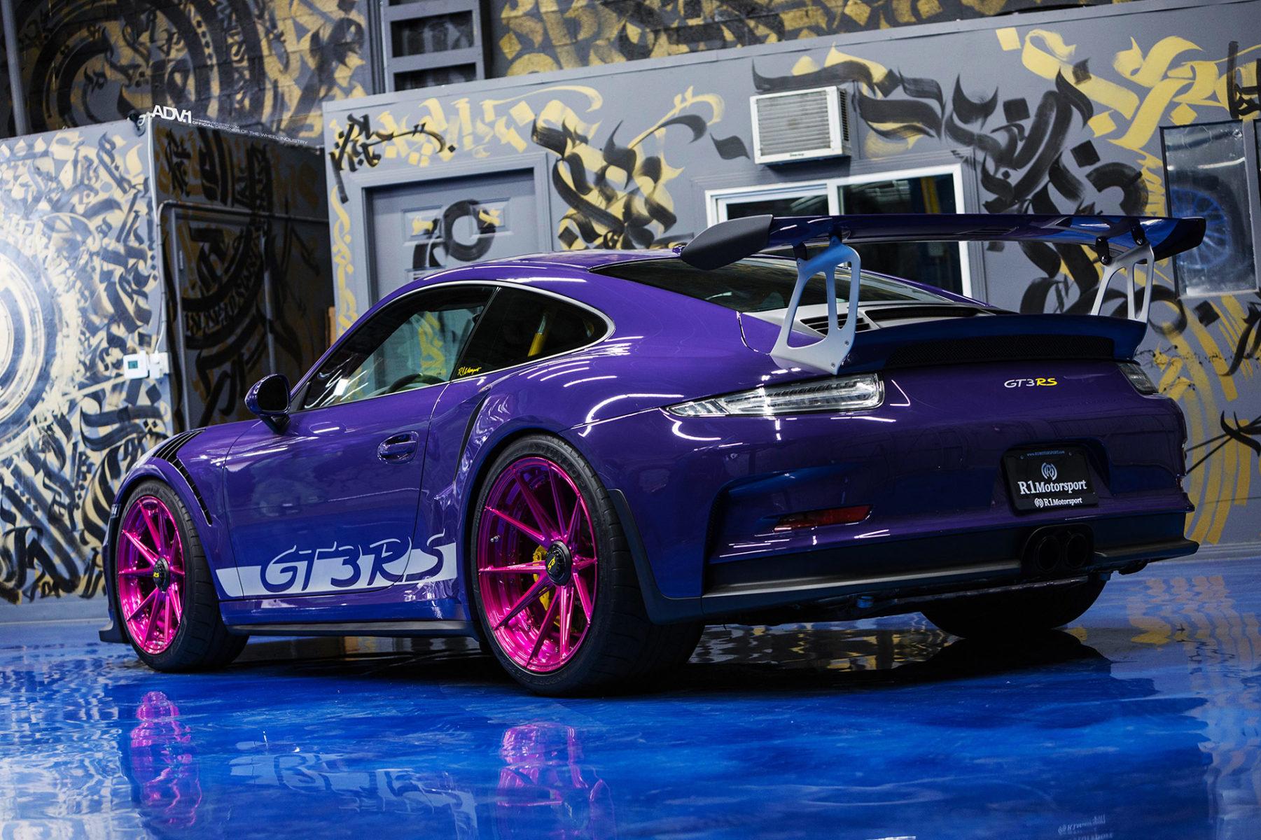 ultraviolet purple porsche 911 gt3 rs adv5 2 m v2. Black Bedroom Furniture Sets. Home Design Ideas