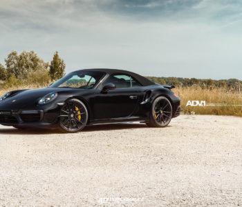Black Porsche 911 Turbo S Cabrio – ADV5.2 M.V SL Concave Wheels