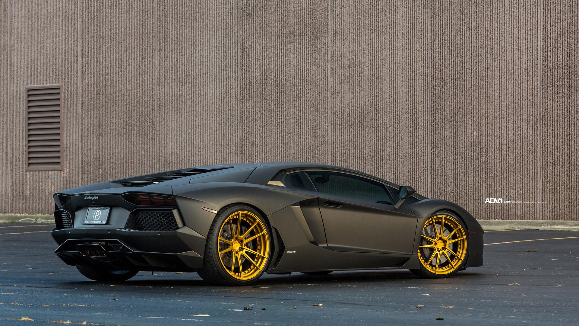 Satin Matte Black Lamborghini Aventador - ADV5.2 M.V2 SL ...