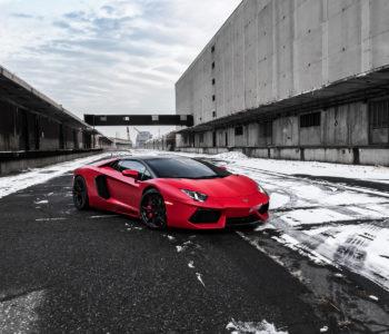 Rosso Efesto Lamborghini Aventador – ADV7 Track Spec CS Series Wheels