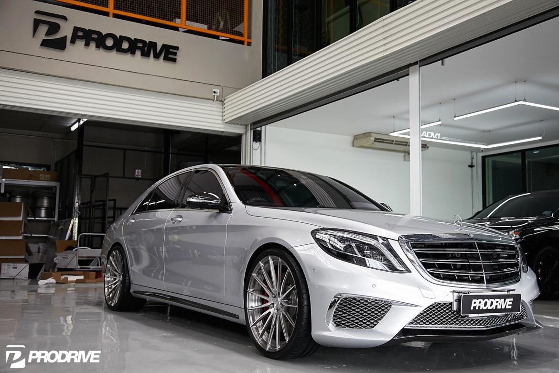 Iridium silver metallic mercedes benz s550 adv15 m v2 cs for Mercedes benz s550 rims