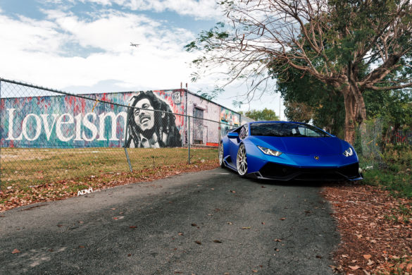 Satin Blue Lamborghini Huracan LP-610-4 - ADV10 Track Spec CS Wheels Wallpaper