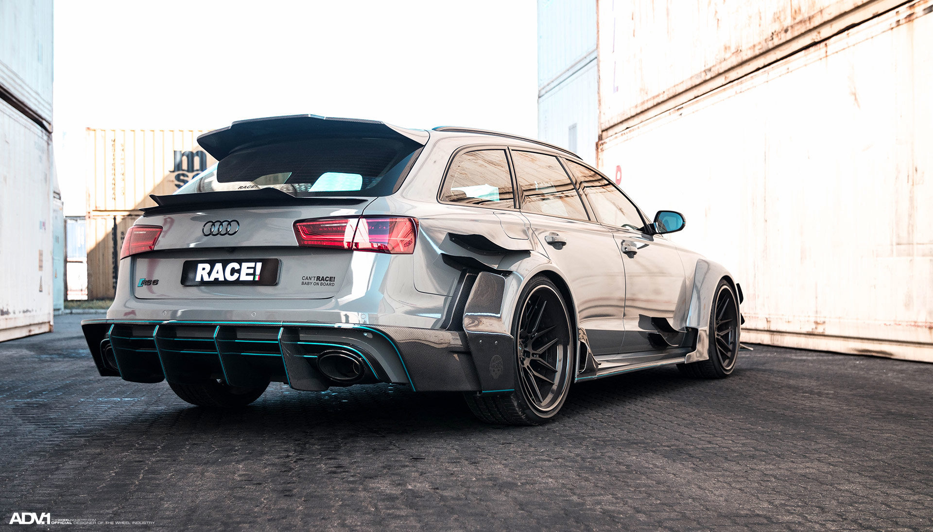 Nardo Gray Audi RS6 Avant - ADV7R Track Spec CS Series Wheels