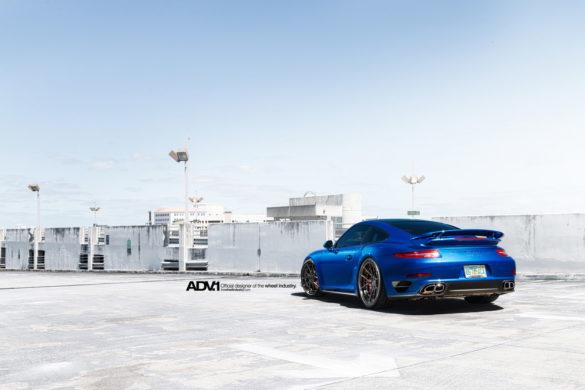 Sapphire Blue Metallic Porsche 991 Turbo –  ADV5.0 M.V2 SL Series Wheels