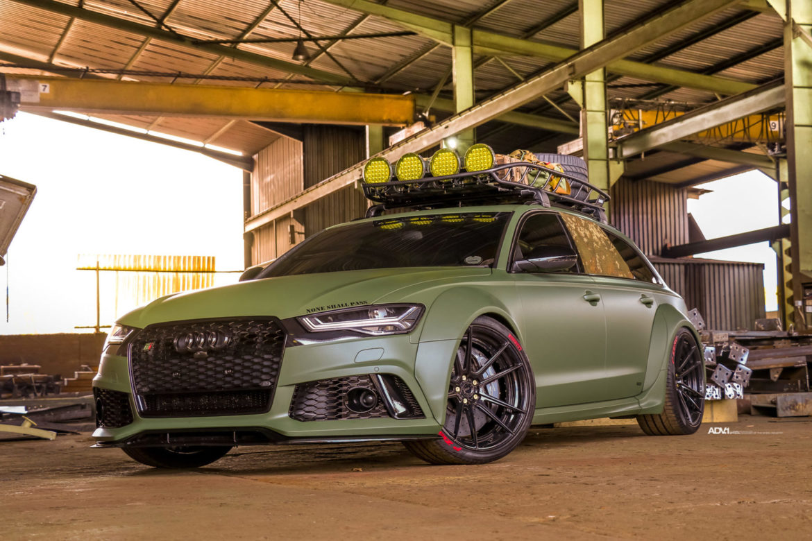 Army Green Audi RS6 Avant - ADV5.2 M.V2 SL Series Wheels