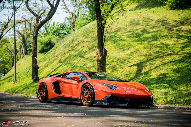 Arancio Argos Lamborghini Aventador - ADV5.3 Track Spec CS - ADV.1 Wheels