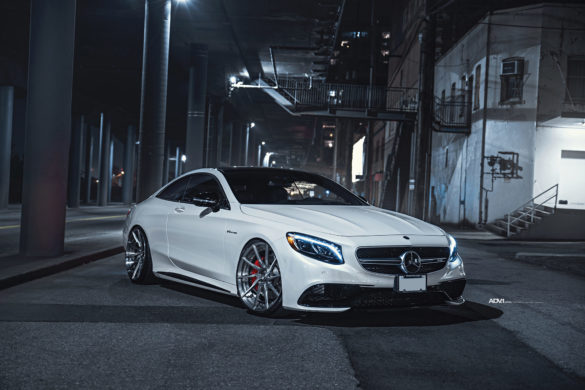 Pearl White Mercedes-Benz S63 Coupe - ADV10R M.V2 CS Series - ADV.1 Wheels
