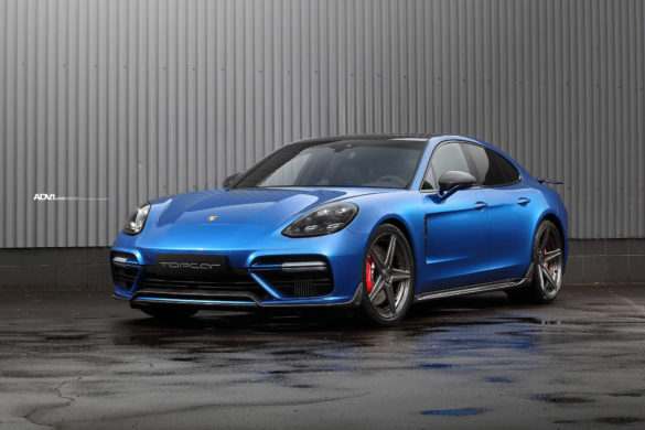 Sapphire Blue Metallic TOPCAR Porsche Panamera Turbo S - ADV5 M.V2 CS Series Wheels