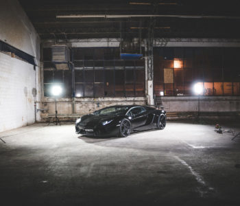Blacked Out Lamborghini Aventador – ADV05 M.V2 SL Wheels