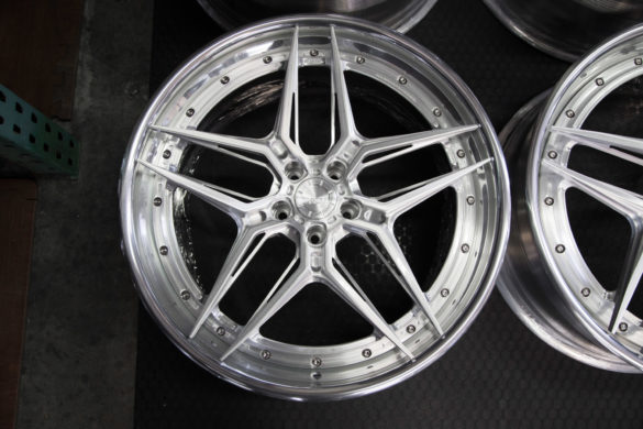 ADV510 Track Spec Advanced Wheels – Brushed w/ Gloss Clear – Polished w/ Gloss Clear –  Mercedes S-Class Sedan