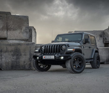 Battleship Gray Jeep Wrangler Sahara – ADV6 Track Function CS Wheels