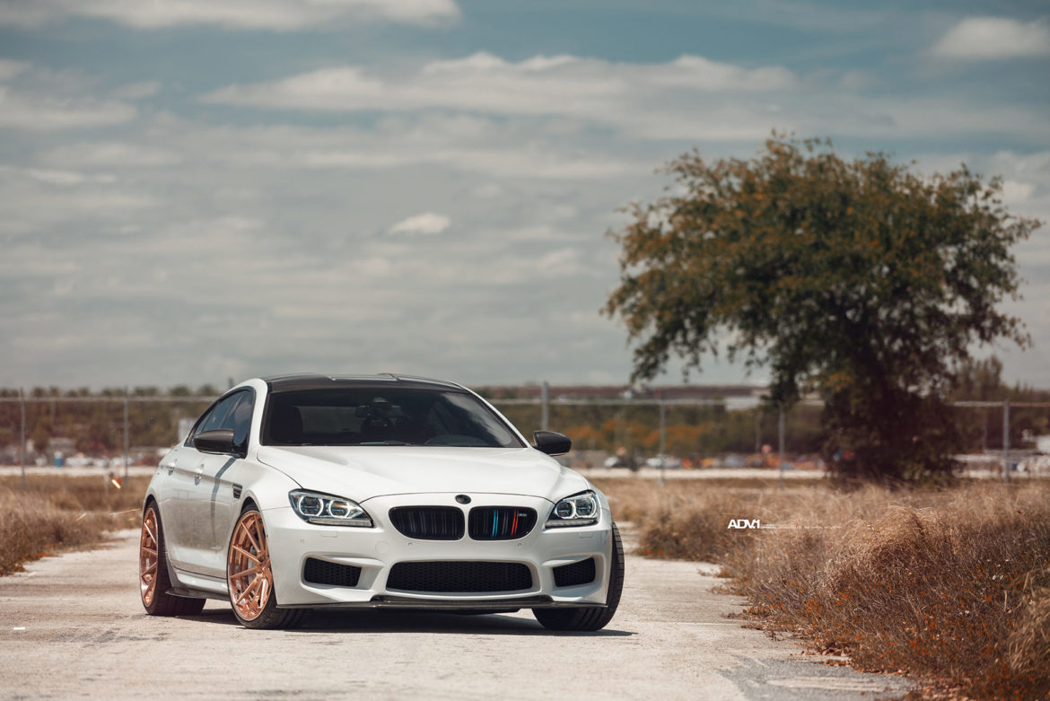 Alpine White BMW M6 - ADV10 Track Spec SL Series Wheels
