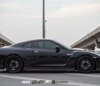 Black Nissan GTR – ADV05 Track Spec Advanced Series Wheels – Matte Black / Gloss Black