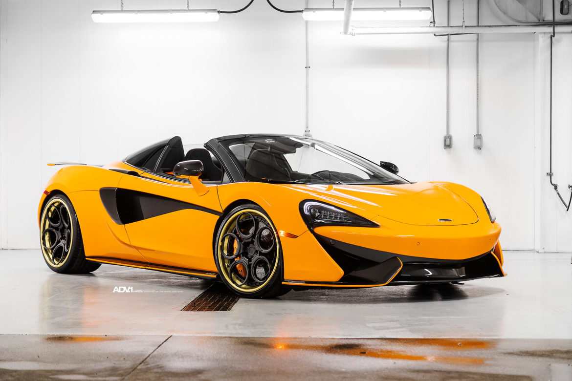 Orange McLaren 570S - ADV05C Track Spec CS Series Wheels