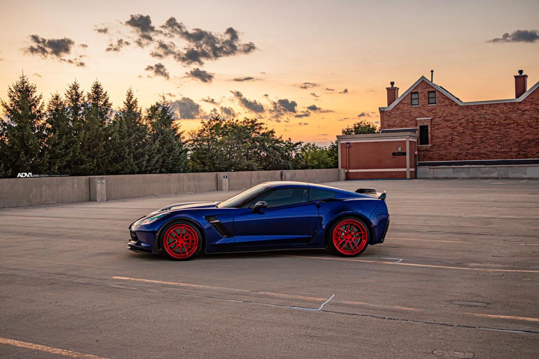 Blue Chevrolet C7 Z06 Corvette - ADV005 Track Spec CS Series Wheels