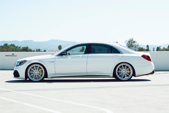 White Mercedes S63 AMG – ADV10 M.V2 CS Series Wheels