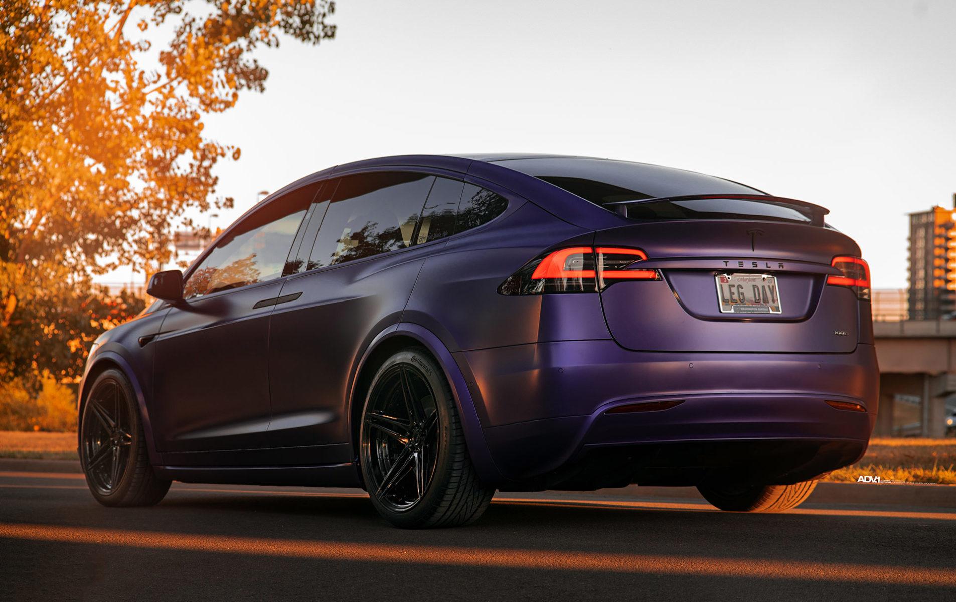 Matte Purple Tesla Model X Adv 1 Advanced Series Wheels Adv 1 Wheels