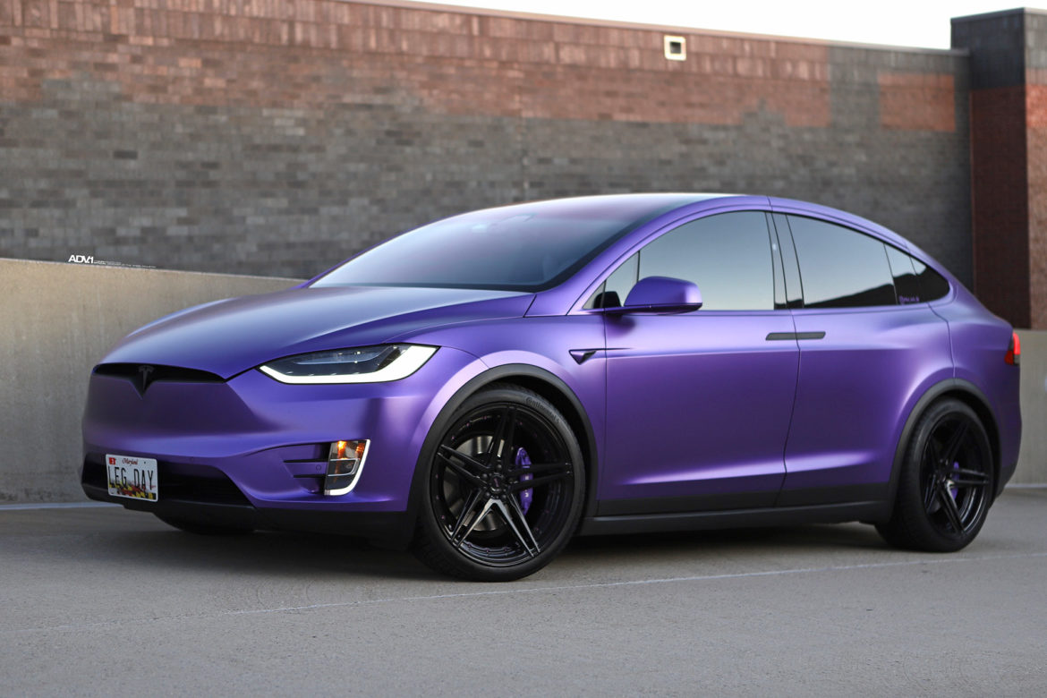 Matte Purple Tesla Model X - ADV05 M.V2 Advanced Series Wheels