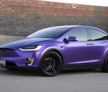 Matte Purple Tesla Model X – ADV05 M.V2 Advanced Series Wheels