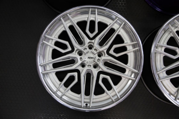 ADV05F Track Spec Advanced Series Wheels – Brushed Face w Polished Windows – Polished Lip