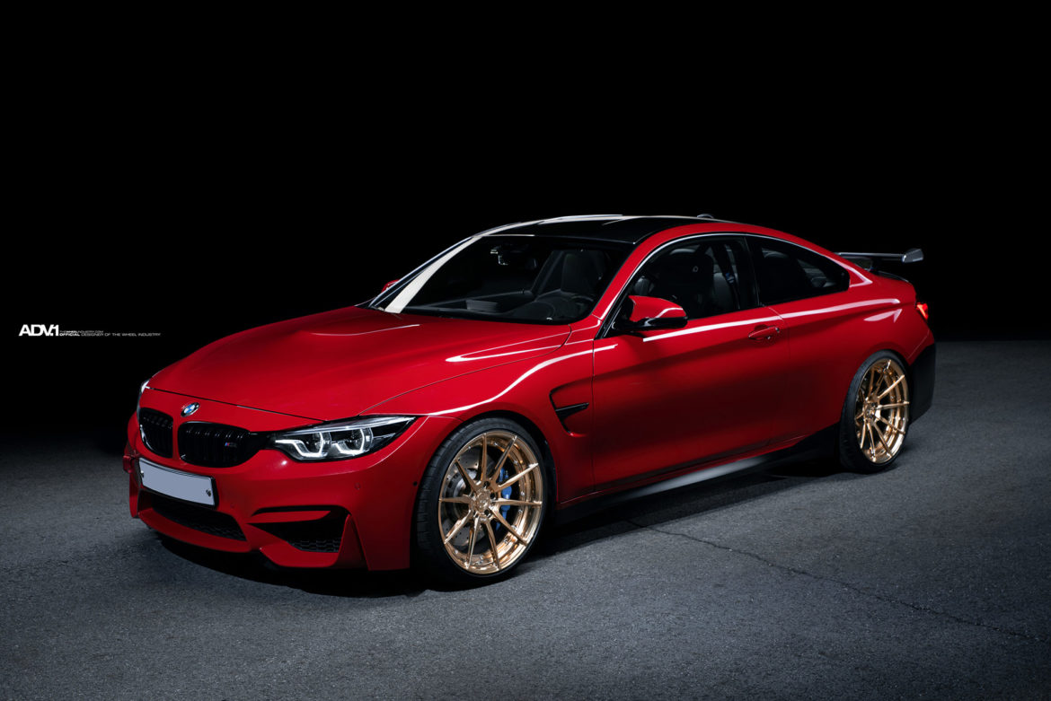 Rosso Corsa BMW M4 - ADV10 M.V2 CS Series Wheels