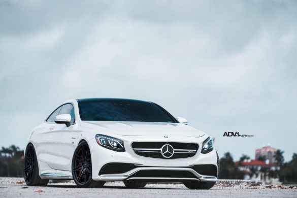Rendering: Mercedes S-Class Coupe – ADV08 FLOWspec Wheels in Satin Black