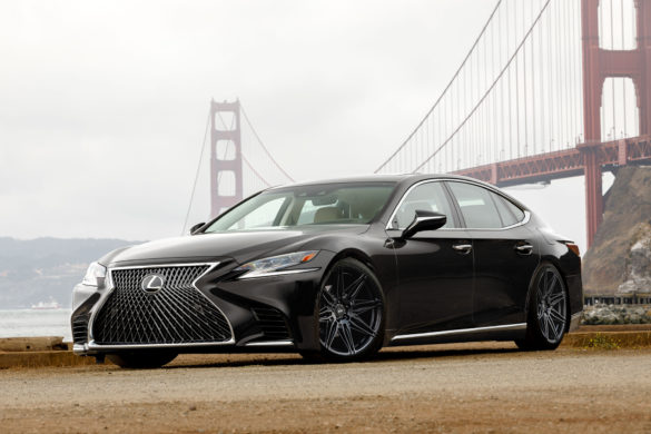 Rendering: Lexus LS 500 – ADV08 FLOWspec Wheels – Satin Black
