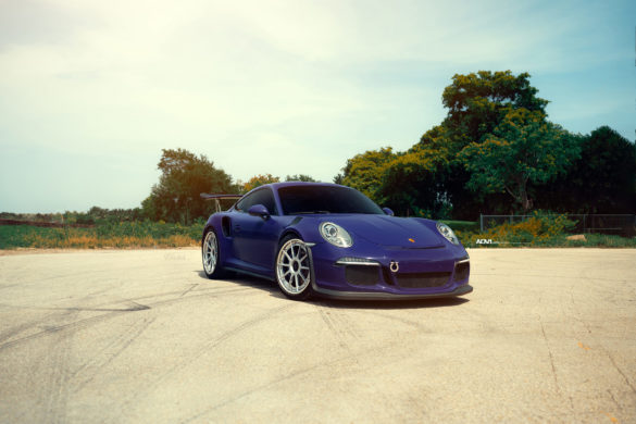 Ultraviolet Purple Porsche GT3 RS - ADV10 Track Spec CS Series Wheels