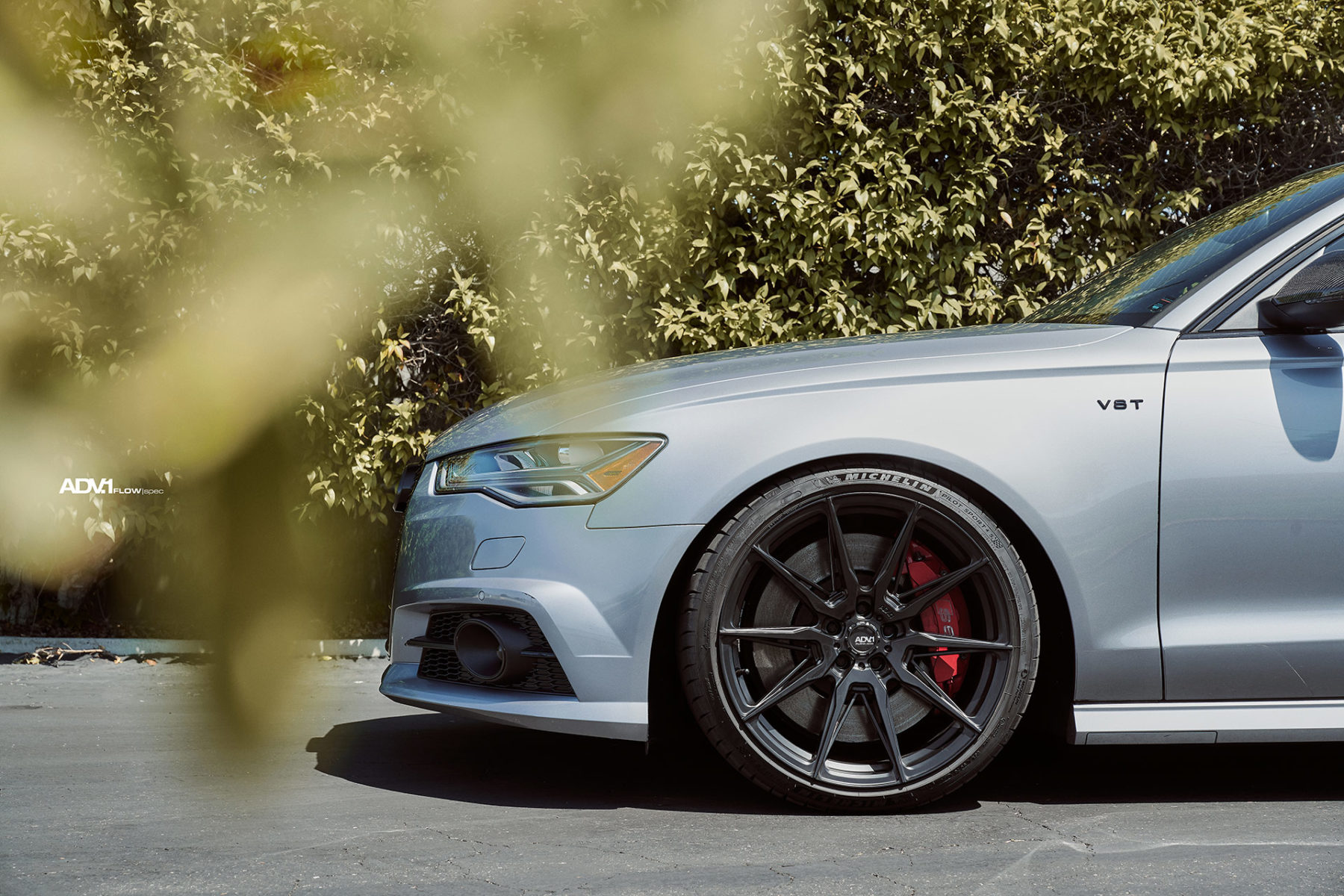 Florett Silver Audi S6 - ADV5.0 FLOWspec Wheels in Satin Black