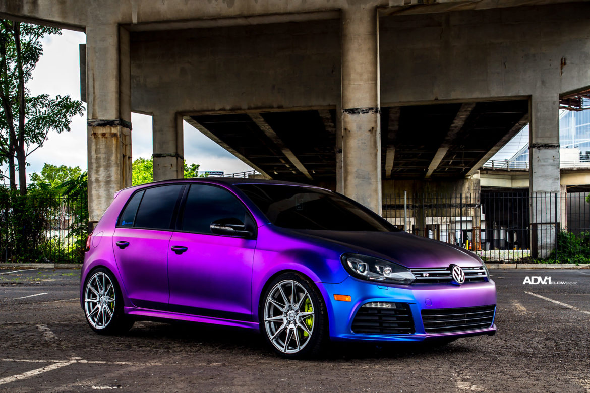 Chameleon Wrapped Volkswagen MK6 Golf R - ADV5.0 FLOWspec Wheels