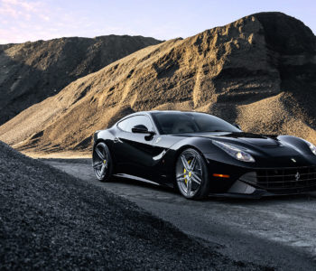 Black F12 Berlinetta – ADV05 M.V2 CS Series Wheels in Brushed Gloss Gunmetal