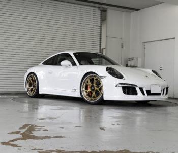 White 991 Porsche Carrera 4 GTS – ADV05D Track Spec Advanced Wheels